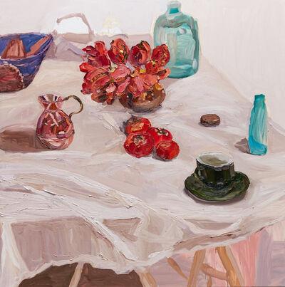 Laura Jones, 'Parrot Tulips and Persimmons', 2015