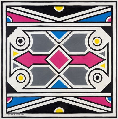 Esther Mahlangu, 'Ndebele Abstract - C002469', 2019