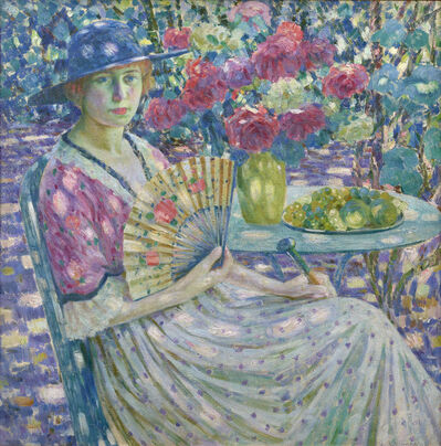 Louis Ritman, 'Girl with a Fan, Giverny', 1914