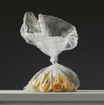 Rafael de la Rica, 'Bag with fruits', 2019