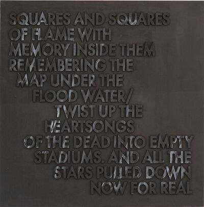 Robert Montgomery, 'Poem for Ezra Pound and Kurt Cobain', 2015