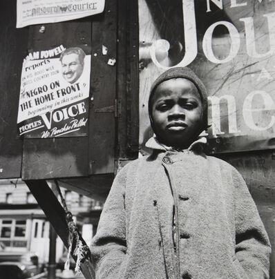 Gordon Parks, 'Harlem Newsboy, Harlem, New York', 1943