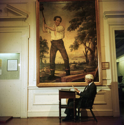 Slim Aarons, 'Carl Sandburg, Chicago Historical Society Museum', 1960