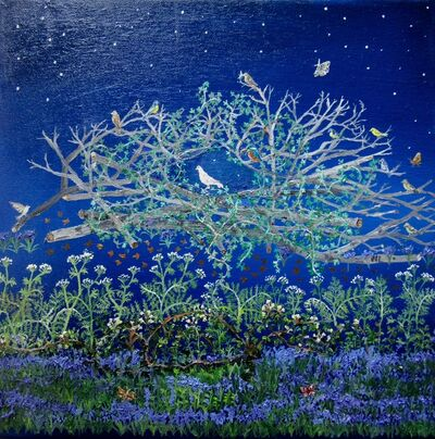 Emma Haworth, 'White Dove and Bluebells', 2017