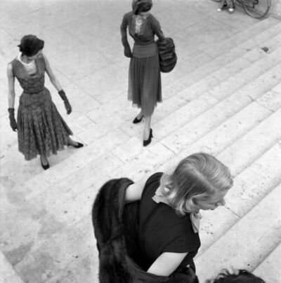 René Burri, 'Models, Paris Fashion Shoot, Paris, France 	', 1950