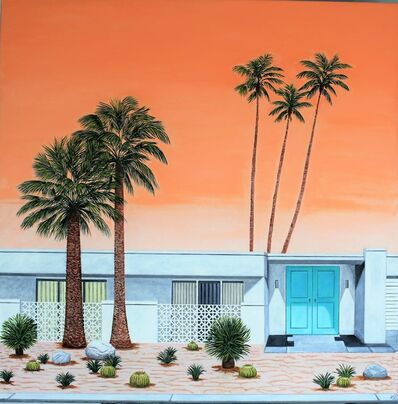 Karen Lynn, ''Desert Sunset' Oil on Canvas, Contemporary Painting', 2021