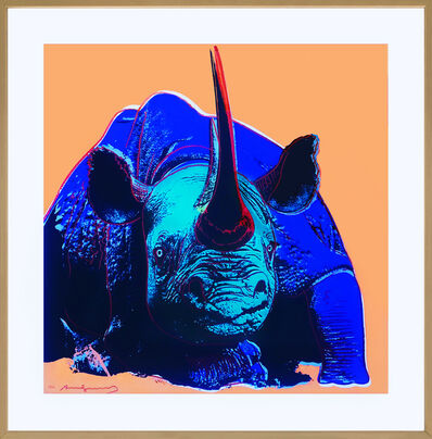 Andy Warhol, 'Black Rhinoceros', 1983