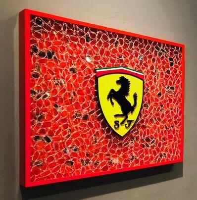 """David Datuna, '""""Viewpoints Of Millions  (Ferrari)"""" ', 2016"""