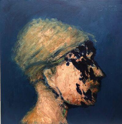 John Goodman, 'Head No. 10, 2018 - oil on wood panel', 2018