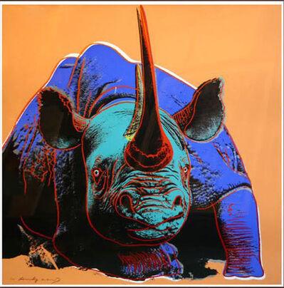 Andy Warhol, 'ENDANGERED SPECIES: BLACK RHINOCEROS FS II.301', 1983