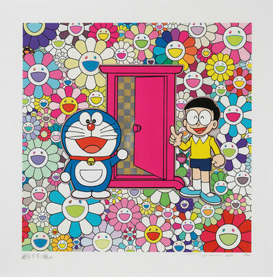 Takashi Murakami, 'Anywhere Door (Dokodemo Door) in the Field of Flowers', 2019