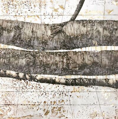 Ava Roth, 'Encaustic Sewing, Silver Birch II', 2019
