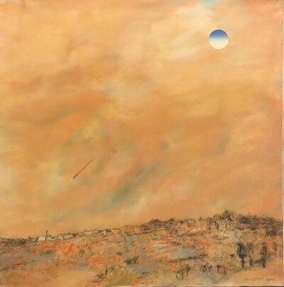 Oded Feingersh, 'Large Jerusalem Hills Landscape Modernist Israeli Oil Painting', 20th Century