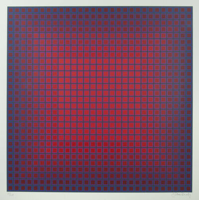 Julian Stanczak, 'Compounded Red', 1981
