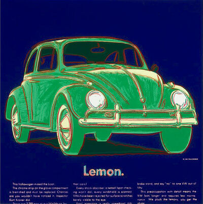 Andy Warhol, 'Volkswagen from Ads Series', 1985