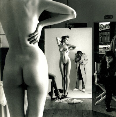 Helmut Newton, 'Self Portrait with Wife and Models, Paris, 1981', 1981
