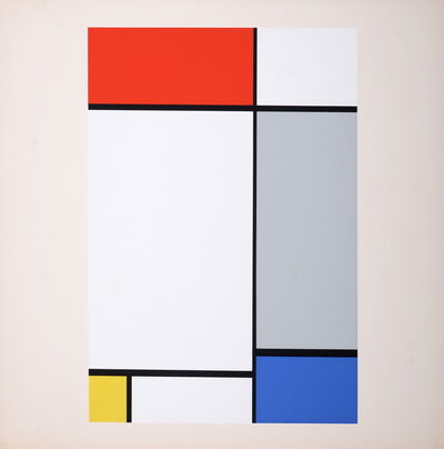 Piet Mondrian, 'Composition in Red, Yellow, Blue and Gray', 1967