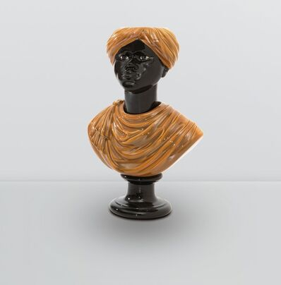 Piero Fornasetti, 'a bust of a Moor in enamelled ceramic', ca. 1950
