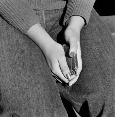 David Goldblatt, 'Girl with purse, Joubert Park, Johannesburg. 1975', 1975