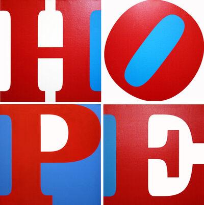 Robert Indiana, 'HOPE (R/W/B) (SUITE OF 4 PAINTINGS)', 2008