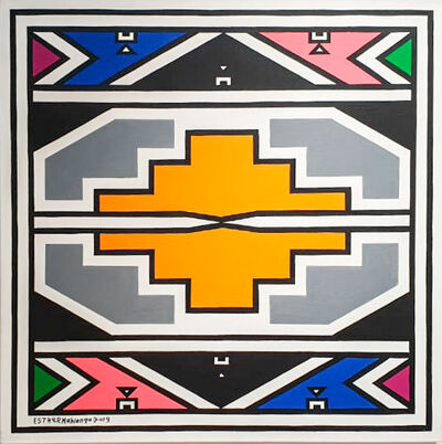 Esther Mahlangu, 'Ndebele Abstract - C000989', 2019