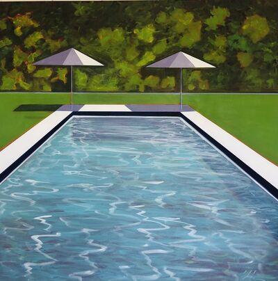 Melissa Chandon, 'Hamptons Pool with Lavender Umbrella', 2021