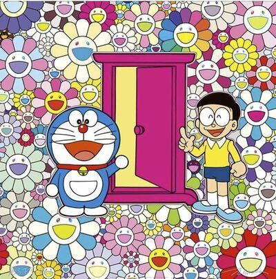 Takashi Murakami, 'Anywhere Door (Dokodemo Door) in the field of flowers', 2018
