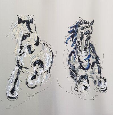 Paul La Poutré, 'Horses at gallop', 2019