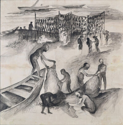 Bhupen Khakhar, 'Fishermen', 1989
