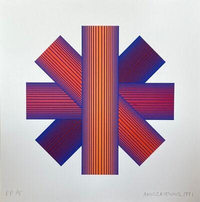Richard Anuszkiewicz, 'Blue Tinted Star', 1991
