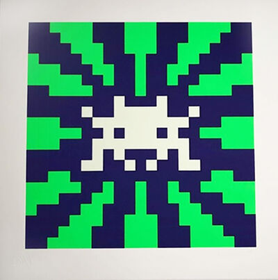 Invader, 'Sunset (Blue & Green Gid)', 2018