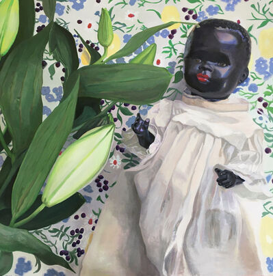 JoAnne McFarland, 'Selfie With Lilies', 2020