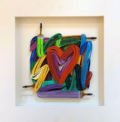 David Gerstein, 'Touching Heart (Papercut)', 2019