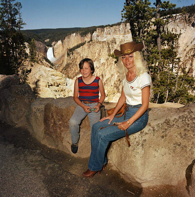 Roger Minick, 'Mother and Son at Lower Falls Overlook, Yellowstone National Park', 1980
