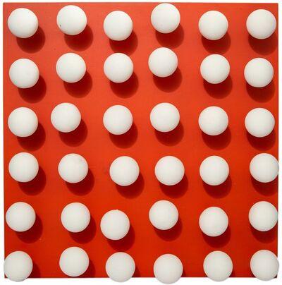 Antonio Asis, 'Boules Tactiles sur Fond Rouge', 1960