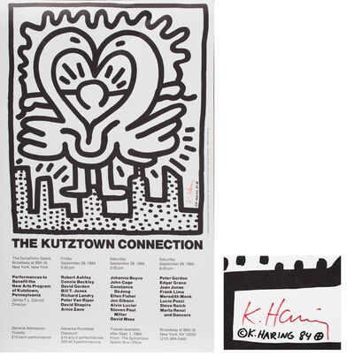 """Keith Haring, '""""Kutz Ttown"""", SIGNED/Numbered Edition, Offset Lithograph, with Certificate Signed by Director New Arts Program Inc.', 1984"""