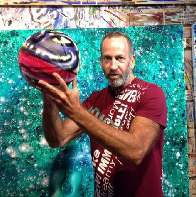 "Kenny Scharf, '""B-BALL"", 2013, Painted/Signed, UNIQUE, Charity Auction for the Boys & Girls Clubs of Santa Monica', 2013"