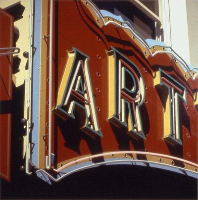 Robert Cottingham, 'Art', 1992