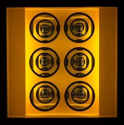 Kenneth Emig, 'Eight - Illuminated concentrically layered circles in amber yellow', 2020