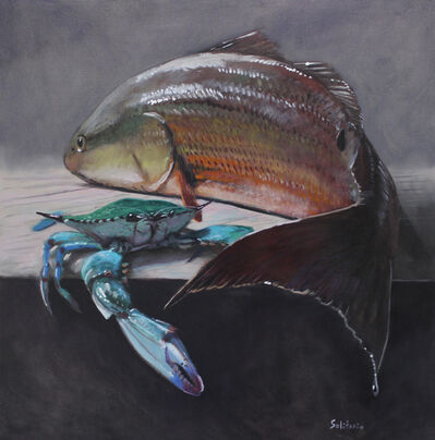 Billy Solitario, 'Golden Redfish and Green Blue Crab', 2019