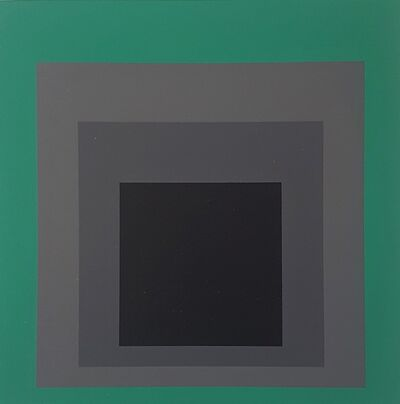 "Josef Albers, 'Homage to the Square: Grisaille and Patina (from ""Albers"")', 1971"