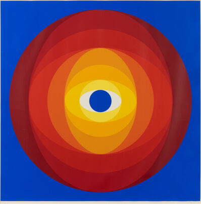 Herbert Bayer, 'Disc with Blue Center', 1968