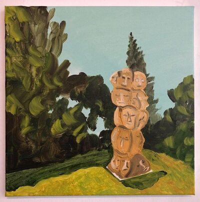 Susan Lizotte, 'UCLA Sculpture Garden Heads', 2019