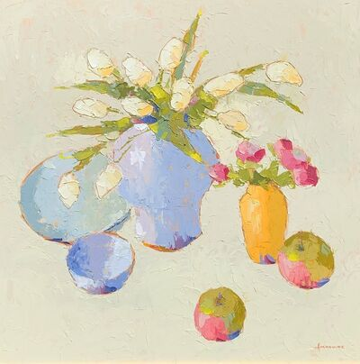 Carol Maguire, 'White Tulips with Apples', 2019