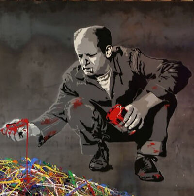 Mr. Brainwash, 'Jackson Pollock', 2014