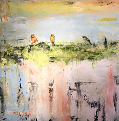 Janice Sugg, 'Three Sparrows Above a Blue Horizon', 2019