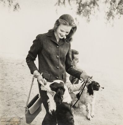 Norman Parkinson, 'Susan Abraham and Spaniels', 1950s