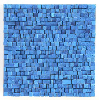 Reiner Seliger, 'Kreidebild blau, klein', 2017