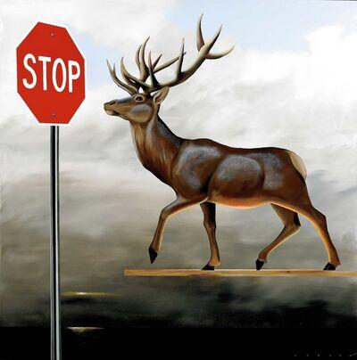 Robert Deyber, 'The Buck Stops Here (Deer at Stop Sign)', 2012