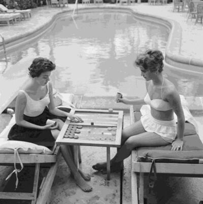 Slim Aarons, 'Backgammon By The Pool', 1959